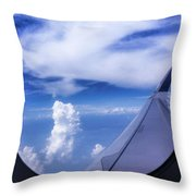 Flying Above The Clouds Throw Pillow