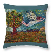 Flying Along With The Spirit Throw Pillow