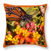 Flying Beauty Throw Pillow