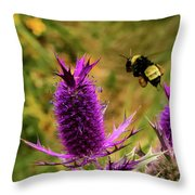 Flying Bee 2 Throw Pillow
