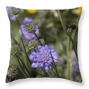 Flying Bee 2. Throw Pillow