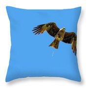 Flying Bird Shit Throw Pillow