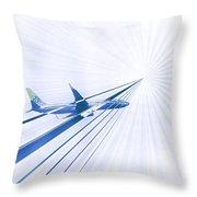 Flying Blind 2 Throw Pillow