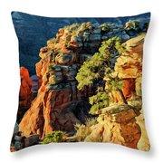 Flying Buttress 06-045 Throw Pillow