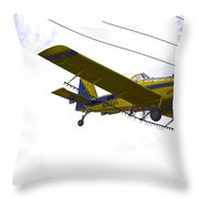 Flying By Wire 4 Of 6 Throw Pillow
