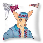 Flying Chihuahua's Throw Pillow