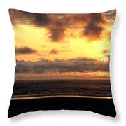 Flying Dog Sunset Throw Pillow
