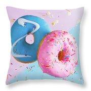 Doughnuts Treat Throw Pillow