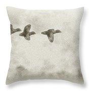 Flying Ducks Throw Pillow