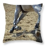 Flying Dust Throw Pillow