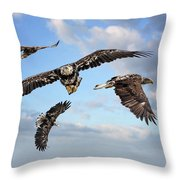 Flying Eagles Throw Pillow