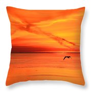Flying East 2  Throw Pillow