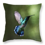Flying Emerald Throw Pillow