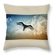 Flying Falcon Throw Pillow