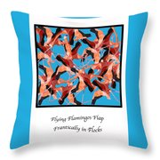 Flying Flamingos Throw Pillow