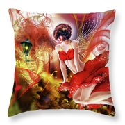 Flying Flower.. Eve Throw Pillow