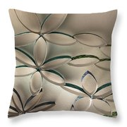 Flying Flowers Throw Pillow
