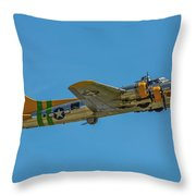 Flying Fortress Climbing Throw Pillow