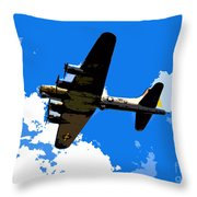 Flying Fortress Throw Pillow