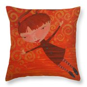 Flying Fredericka Throw Pillow
