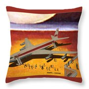 Flying From A Strange Place Throw Pillow