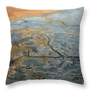 Flying From Fairbanks To Anchorage, Shooting In Airplane Throw Pillow