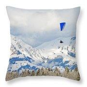 Flying High In Kandersteg, Switzerland Throw Pillow