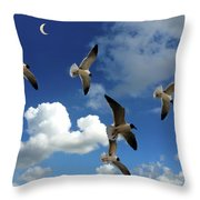 Flying High In The Clouds Throw Pillow