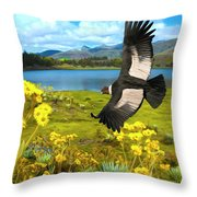Flying His Kingdom Throw Pillow