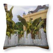 Flying Horses Of Atlantis Throw Pillow