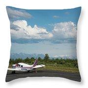 Flying In Alaska Throw Pillow