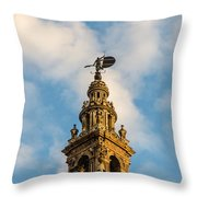 Flying Into The Clouds Throw Pillow