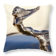 Flying Lady Hood Ornament Throw Pillow