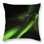 Flying Lights Throw Pillow