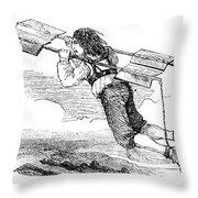 Flying Machine, 1678 Throw Pillow