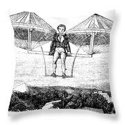 Flying Machine, 1807 Throw Pillow