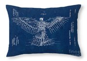 Flying Machine 1889 - Blue Throw Pillow