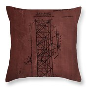 Flying Machine Patent Drawing  Throw Pillow