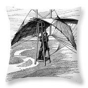 Flying Mans Parachute Throw Pillow