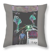 Flying Men Throw Pillow