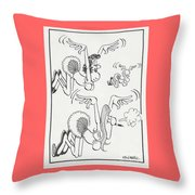 Flying Women Throw Pillow