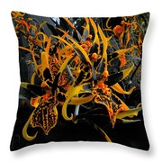 Flying Monkeys Of Oz Orchids Throw Pillow