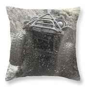 Flying Mud Throw Pillow