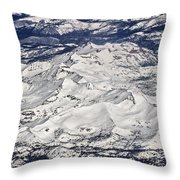 Flying Over Colorado Rocky Mountains Throw Pillow