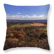 Flying Over New Milford Throw Pillow