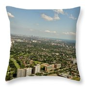 Flying Over Toronto Throw Pillow