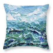 Flying Overseas Throw Pillow