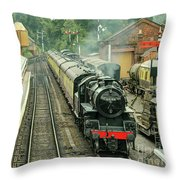 Flying Pig At Bewdley  Throw Pillow