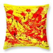 Flying Poppies Throw Pillow