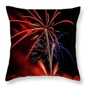 Flying Prom Fireworks Throw Pillow